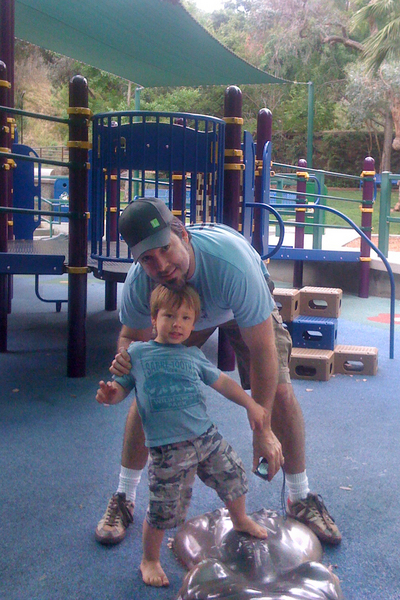 Jonah and Daddy at park