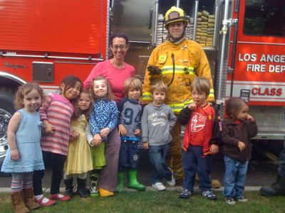 Lily Pad Kids and the firefighters